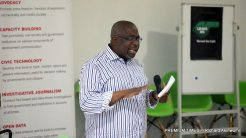 Dapo Olorunyomi, The Publisher of Premium Times speaking at #JournalistsWelfareMatter