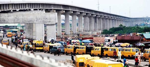 Light rail bridge at Orile, Lagos State [photo: The Guardian Nigeria]