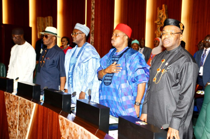 FILE PHOTO: Cross-section of Governors, during the National Economic Council Meeting at the Presidential Villa in Abuja on Thursday (16/08/18). 04342/16/8/2018/Sumaila Ibrahim/JAU/NAN