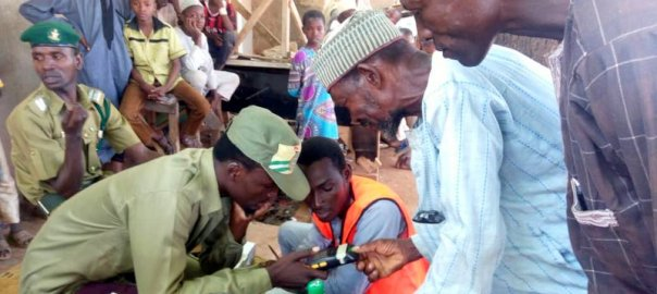 Accreditation exercise at Bakin Kasuwa 1, Gidan chairman, polling unit 006.