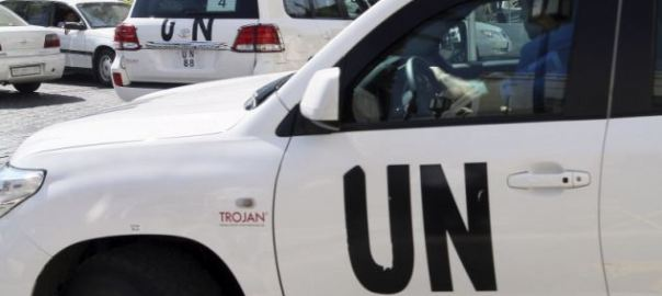 UN Vehicles used to illustrate the story.