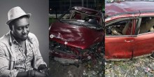 Djinee (left) photos from the accident scene (right)