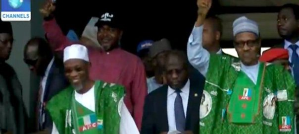 President Buhari, Gov Aregbesola at the APC Mega Rally in Osun