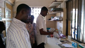FILE PHOTO: Scientists working in a laboratory in Abaji, FCT Abuja