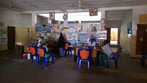 Dark reception area Abaji Township centre