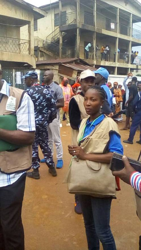 Rukiyat Ahmodu, an observer for CLEEN foundation denied access to polling units in Orolu LGA as at 9:30am.
