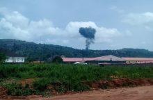 Scene where Nigerian Military Jet crashed in ABuja, FCT.