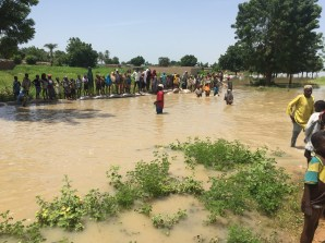 Flooded community at Yar Konama in Jahun LGA.