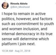 Tweets of Aderinsola Abiola, daughter to MKO Abiola