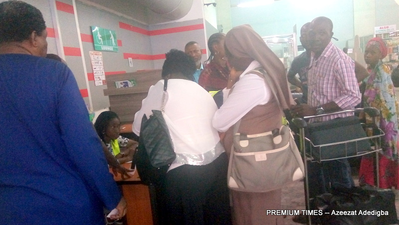 Passengers at the Nnamdi Azikiwe International Airport Abuja