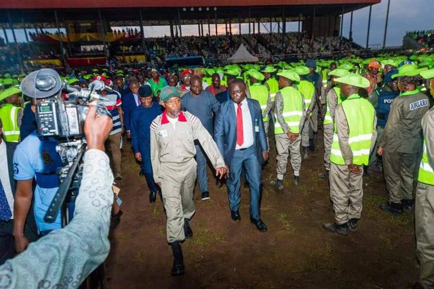 VP Osinbajo at the launch of OYES latest batch in September 2018