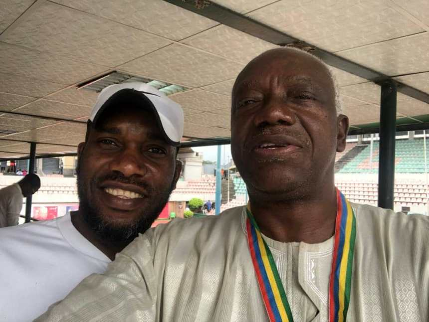 Okocha and Tournament Director Oladunjoye