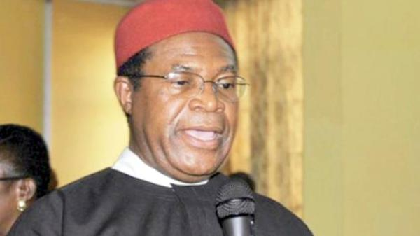 Okwesilieze Nwodo, a former governor of Enugu State. [PHOTO CREDIT: The Nigerian Voice]