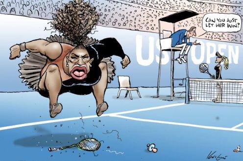 Serena Williams' cartoon by Mark Knight
