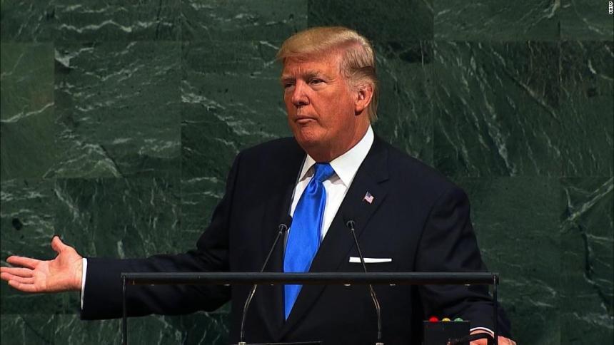 Trump at UN. [PHOTO CREDIT: CNN]