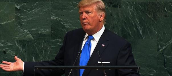Trump at UN. [PHOTO CREDIT: CNN]