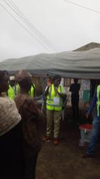 7:57am PU 02/ Ward 1, Awo Court Hall/ Egbedore LGA. One of the Corp members present address the voters on how to vote and how the election process will be. The voters where made to understand that once it is 2pm Voting stops and no body will be allowed to vote.