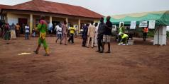 At 8:06am Still in PU 1 & 2, Ward 5 Ira-Gberi I, Egbedore LGA, the POs are yet to address the electorates on the process. Therefore, election may not start soon.