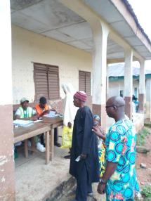 At 8:16am Ede south ward4,Alajue1/2.voting in progress. Preference is also being given to the elderly