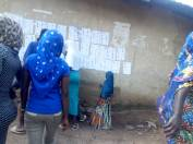 9:35am: Irepodun LG, Ward 2, Unit 6, voting exercise is going smoothly. Voters are confirming their names on the list and the queue is long but peaceful. There are 493 registered voters.