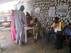 (11:00am) At the King's palace, PU8 Ward 2 of Ila-Orangun LG, the voting exercise is going on peacefully