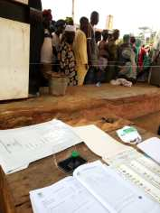 At 10.26, PU006, Ajaba village, ila LG, voting going on well