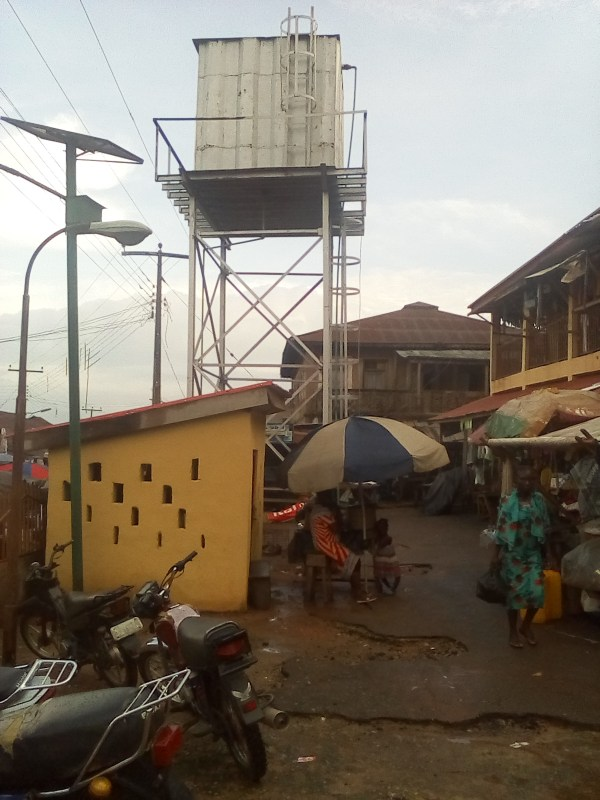 The abandoned motorised borehole at Ulede Market, in Owo