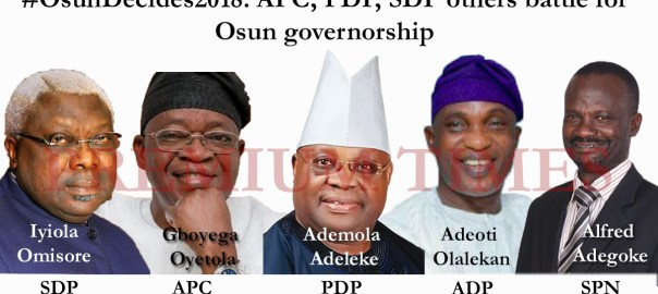 #OsunDecides2018: APC, PDP, SDP others battle for Osun governorship