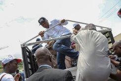 Saraki Tambuwal, Lamido, Secundus during the protest ro INEC hq over Osun elections [photo: @bukolasaraki]