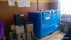 Solar fridge used for cold storage in Tungan Maje