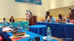 Mr Braimah welcoming the journalist to the conference.