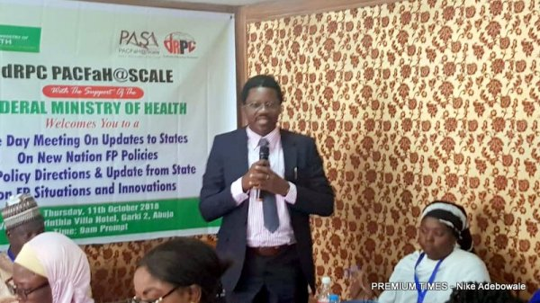 Kayode Afolabi, Director Reproductive health unit, Federal Ministry of Health.