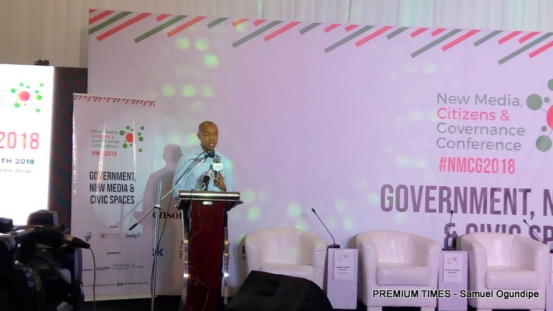 Chidi Odinkalu delivering a keynote at the event.