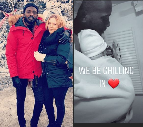 May D and Swedish fiancee welcome son