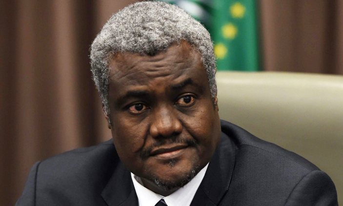 The chairperson of African Union, Moussa Faki