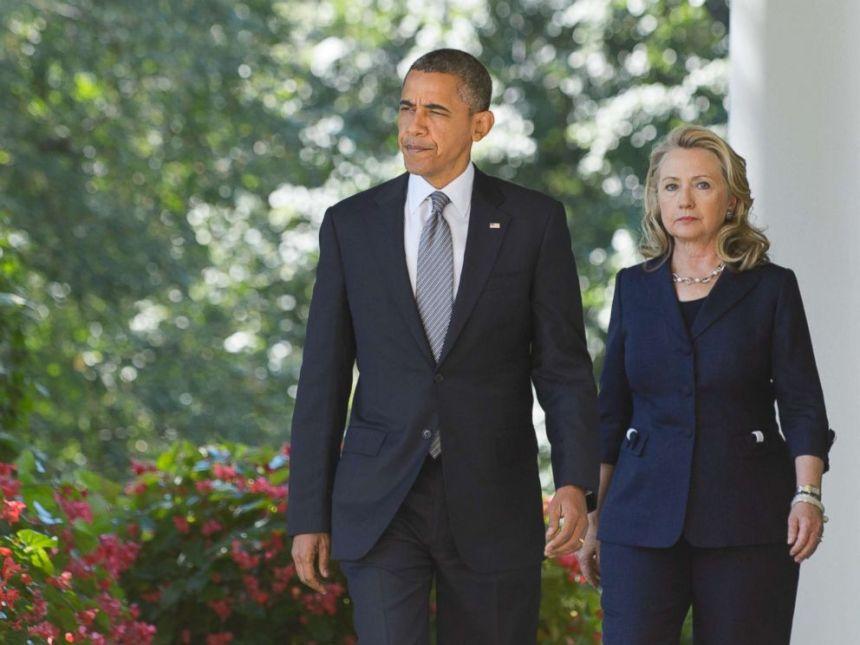Obama and Hilary. [PHOTO CREDIT: ABC News - Go.com]