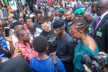 FILE: Yemi Osinbajo at Google Nigeria