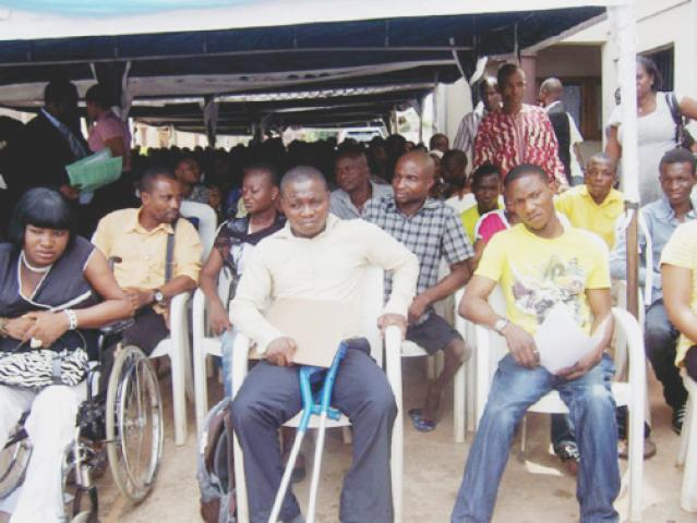 Physically challenged people used to illustrate the story. [PHOTO CREDIT: Daily Post]