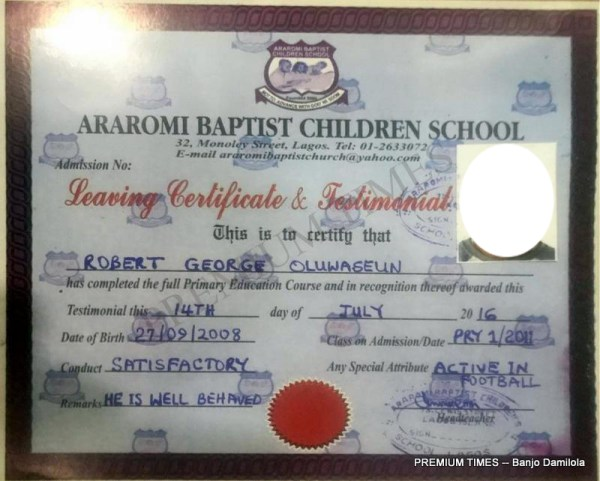Testimonial of Araromi Baptist School