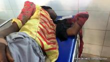 A woman lays unconscious as she is brought in for treatment at Federal Medical Centre, Keffi. She was amputated as a result of bullet wounds (October 30, 2018) Credits: Samuel Ogundipe/Premium Times.
