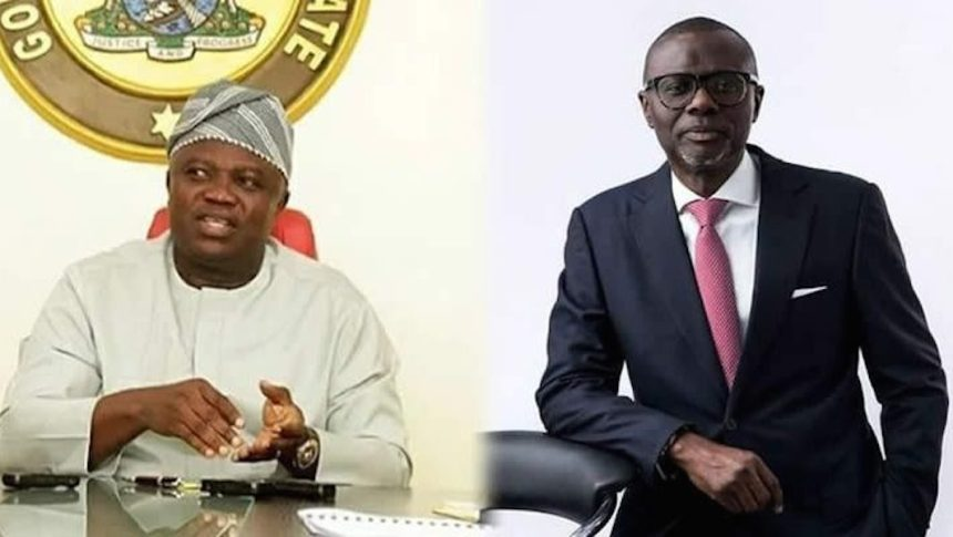 Sanwo-Olu and Ambode used to illustrate the story. [PHOTO CREDIT: THISDAYLIVE}