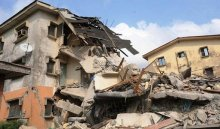 A collapsed building used to illustrate the story. [PHOTO CREDIT: The Nation]