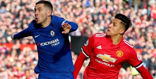 Eden Hazard and Alexis Sanchez. [PHOTO CREDIT: Goal.com]