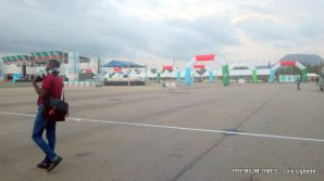 Eagle square is set for the convention with security officials on ground