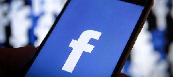 Facebook logog on a smartphone