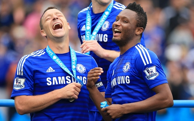 Chelsea's John Terry and John Obi Mikel