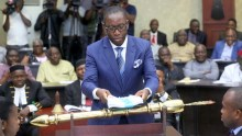 Delta State Governor, Senator Ifeanyi Okowa Presenting the 2019 Budget Estimates to the State House of Assembly, in Asaba. (PHOTO CREDIT; JIBUONR SAMUEL)