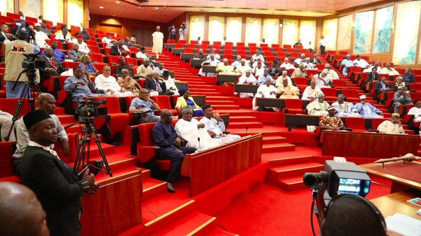 Nigerian senate chambers where senators attend plenary