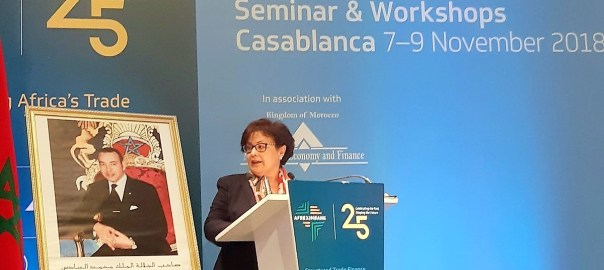 The Director of Treasury and External Finance, Ministry of Economy & Finance, Morocco, Zaaboul Faouzia at the 18th Afreximbank's Annual Seminar on Structured Trade Finance in Casablanca, Morocco on Wednesday