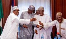President Muhammadu Buhari receives WAEC attestation [Photo: @BashirAhmad]